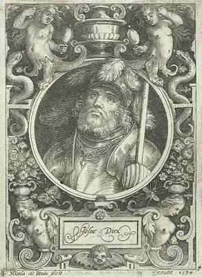 Portrait Of Joshua, Medallion, Nicolaes De Bruyn Art Print by Nicolaes De Bruyn