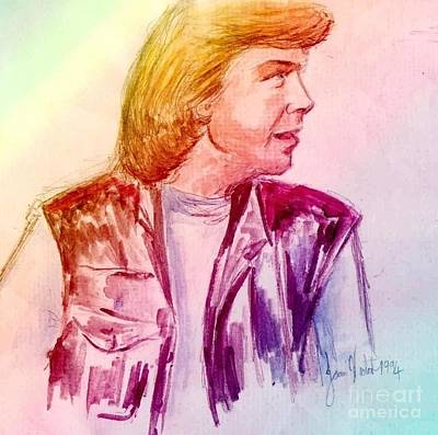 Painting - Portrait Of Justin Hayward 2 by Joan-Violet Stretch