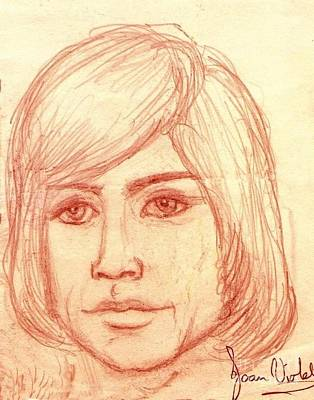 Pastel - Portrait Of Justin Hayward 4 by Joan-Violet Stretch