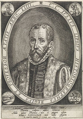 Portrait Of Justus Lipsius, Jan Baptist Zangrius Art Print by Jan Baptist Zangrius