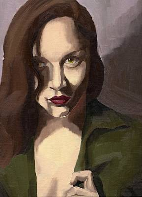 Painting - Portrait Of Katelind by Stephen Panoushek