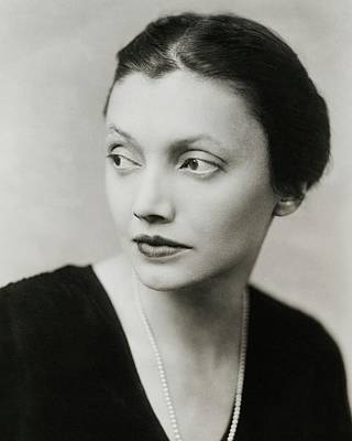Katharine Photograph - Portrait Of Katharine Cornell by Florence Vandamm