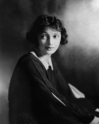 Portrait Of Katharine Cornell Art Print by James Abb?