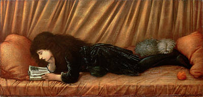 Burne-jones Painting - Portrait Of Katie Lewis by Sir Edward Coley Burne-Jones