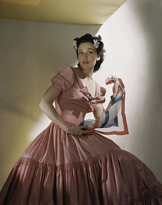 Herman Photograph - Portrait Of Kay Herman by Horst P. Horst
