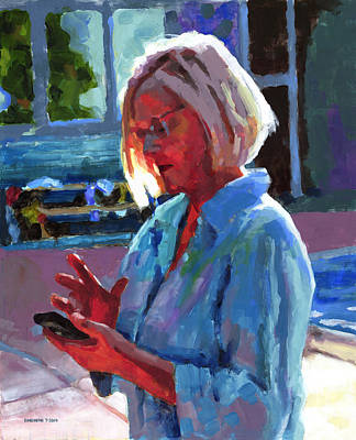 Kelly Painting - Portrait Of Kelly by Douglas Simonson