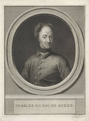 Sweden Drawing - Portrait Of King Charles Xii Of Sweden, Pieter Tanj by Pieter Tanj?