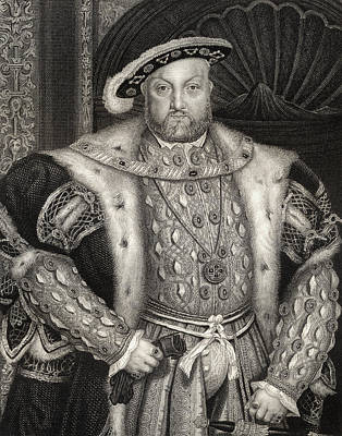 Pad Drawing - Portrait Of King Henry Viii  by Hans Holbein the Younger