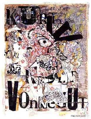Wild Drawing - Portrait Of Kurt Vonnegut by Karl Frey