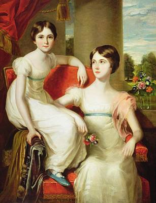 Sisters Painting - Portrait Of Lady Caroline Augusta by Thomas Barber