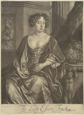 Finch Drawing - Portrait Of Lady Essex Finch, Jan Van Der Vaart by Jan Van Der Vaart And Richard Tompson