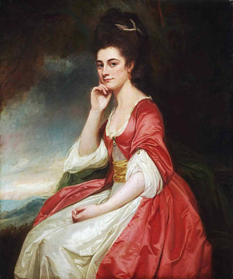 Portrait Of Lady Grantham Print by George Romney