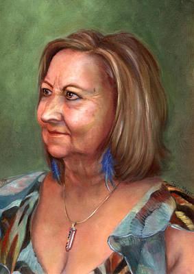 Portrait Of Lana Art Print by Terri  Meyer