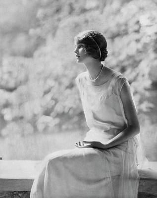 Photograph - Portrait Of Laura Biddle by Edward Steichen