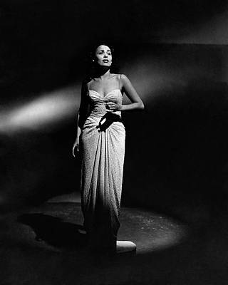 Photograph - Portrait Of Lena Horne by John Rawlings