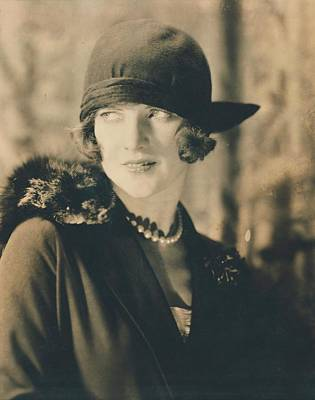 Cloche Hat Photograph - Portrait Of Leonora Hughes by Edward Steichen