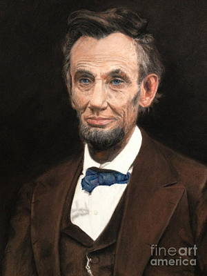Painting - Portrait Of Lincoln by Janet Poirier