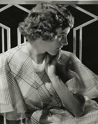 Black Curly Hair Photograph - Portrait Of Lois Moran by Edward Steichen