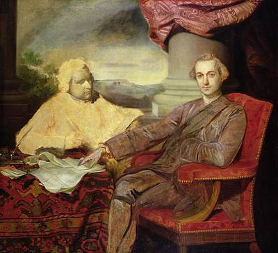Portrait Of Lord Rockingham And Edmund Art Print by Sir Joshua Reynolds