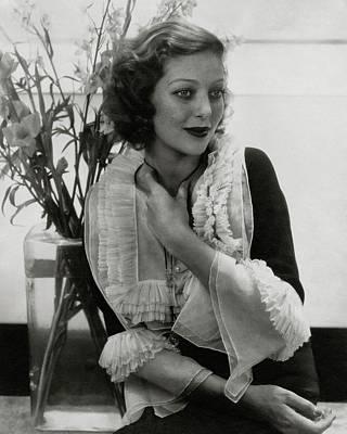 Bouquet Photograph - Portrait Of Loretta Young by Edward Steichen