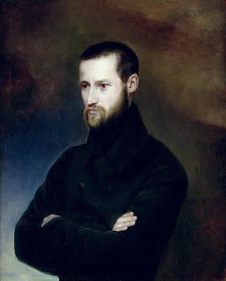 Auguste Photograph - Portrait Of Louis-auguste Blanqui 1805-81 C.1835 Oil On Canvas by Madame Blanqui