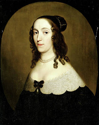 Christina Drawing - Portrait Of Louise Christina, Countess Of Solms-braunfels by Litz Collection