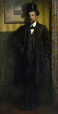 Painter Photograph - Portrait Of Lucien Simon 1864-1945 1907 Oil On Canvas by Charles Cottet