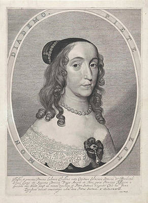 Christina Drawing - Portrait Of Ludovica Christina Of Solms-braunfels by Pieter Claesz. Soutman