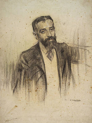 Luis Drawing - Portrait Of Luis Morote by Ramon Casas