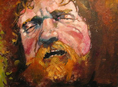 Painting - Portrait Of Luke Kelly by Kevin McKrell