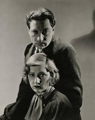 Photograph - Portrait Of Luther And Stella Adler by Lusha Nelson