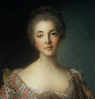 Marie-louise Painting - Portrait Of Madame Dupin by Jean-Marc Nattier