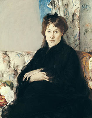 Sit-ins Painting - Portrait Of Madame Edma Pontillon by Berthe Morisot