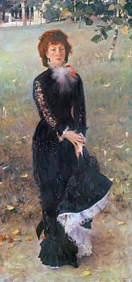 Full-length Portrait Painting - Portrait Of Madame Edouard Pailleron by John Singer Sargent