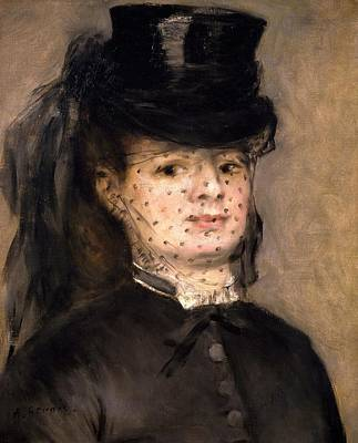 Silk Painting - Portrait Of Madame Paul Darras by Pierre-Auguste Renoir