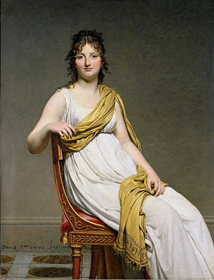 Portrait Of Madame Raymond De Verninac Art Print by Jacques Louis David