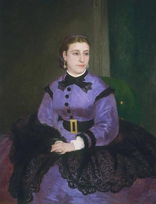 Impressionist Photograph - Portrait Of Mademoiselle Sicot, 1865 Oil On Canvas by Pierre Auguste Renoir
