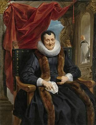 1636 Painting - Portrait Of Magdalena De Cuyper by Jacob Jordaens