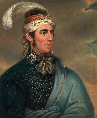 Mohawk Painting - Portrait Of Major John Norton As Mohawk Chief by Litz Collection