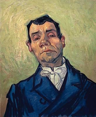 Portrait Of Man Art Print by Vincent van Gogh