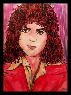Marc Bolan Painting - Portrait Of Marc Bolan by Joan-Violet Stretch