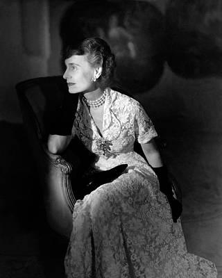 Necklace Photograph - Portrait Of Margaret Thomas Biddle by Horst P. Horst