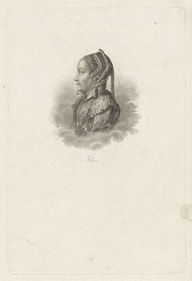 Portrait Of Margaretha Coppier, Philippus Velijn Print by Philippus Velijn