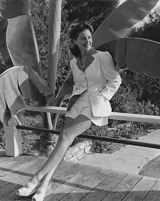 Photograph - Portrait Of Marguerite Chapman by John Swope