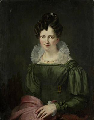 Christina Drawing - Portrait Of Maria Christina Nijssen, Wife Of Anthonie Van by Litz Collection
