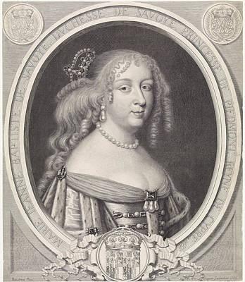 Portrait Of Maria Johanna Baptiste, Duchess Of Savoy Art Print