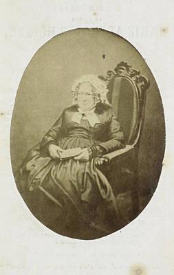 Prayer Drawing - Portrait Of Marie-adelaide Hoigné Stuck On Prayer Card by Artokoloro