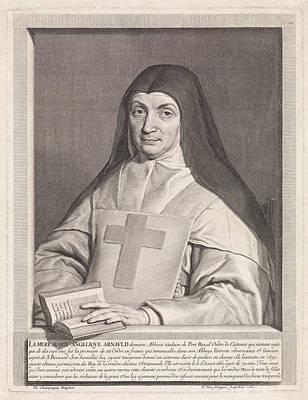 Portrait Of Marie Angelique Arnauld, Pieter Van Schuppen Art Print by Pieter Van Schuppen