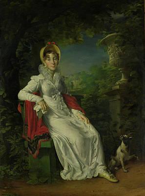 Berry Drawing - Portrait Of Marie Caroline Ferdinande Louise De Naples by Litz Collection