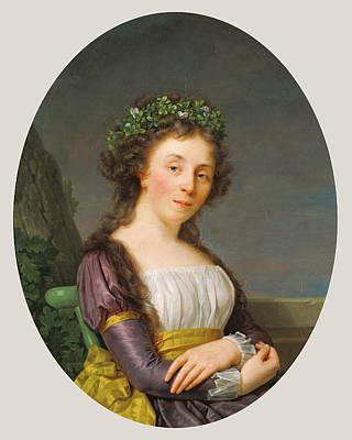 Marie Louise Painting - Portrait Of Marie-louise Joubert, Neé Poulletier De by Litz Collection